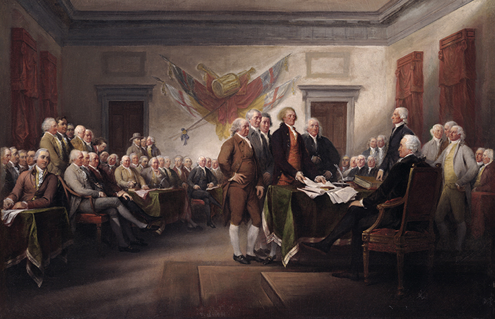 Image result for rare painting of the declaration of independence