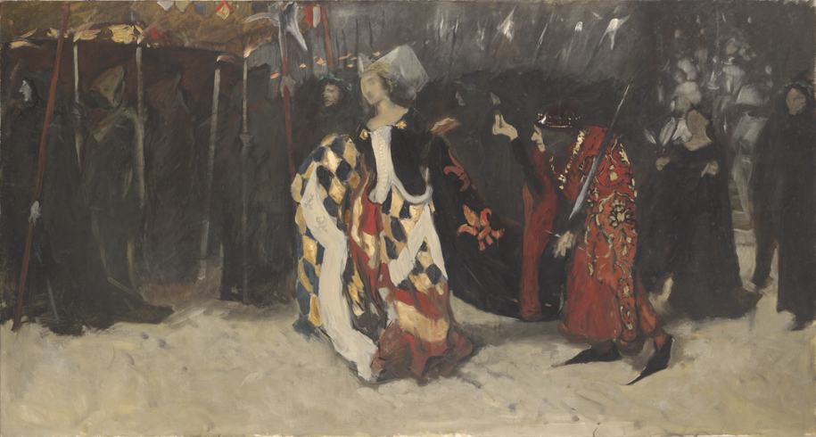 "Preliminary sketch for ""Richard, Duke of Gloucester, and the Lady Anne,"" 1895–1896. (Edwin Austin Abbey Collection, Yale University Art Gallery)"