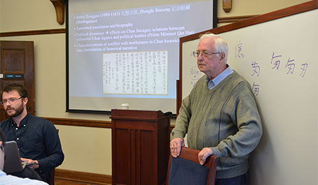 Pictured here is Daniel Kane, an Australian sinologist and linguist who studies the Kitan language and scripts.