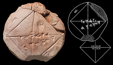 Babylonian Geometry Tablet_0 a 3,800 year journey from classroom to classroom yalenews