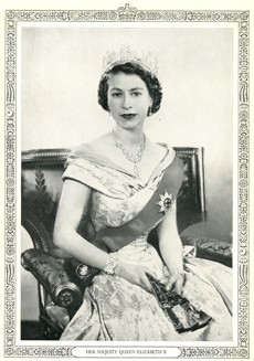 Queen at coronation