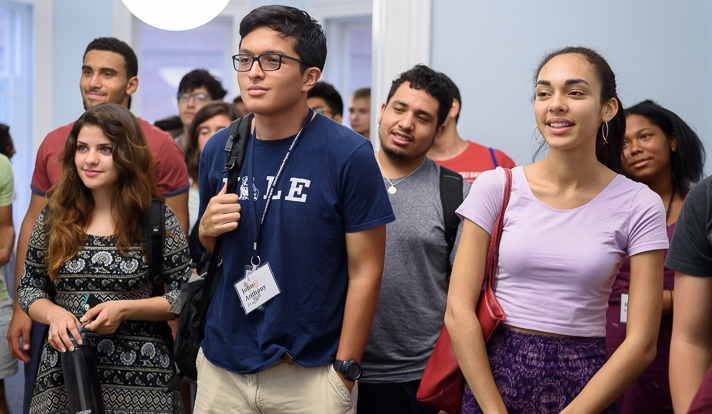 Students were also able to visit and tour the four cultural centers at Yale. (Photo by Román Castellanos-Monfil)