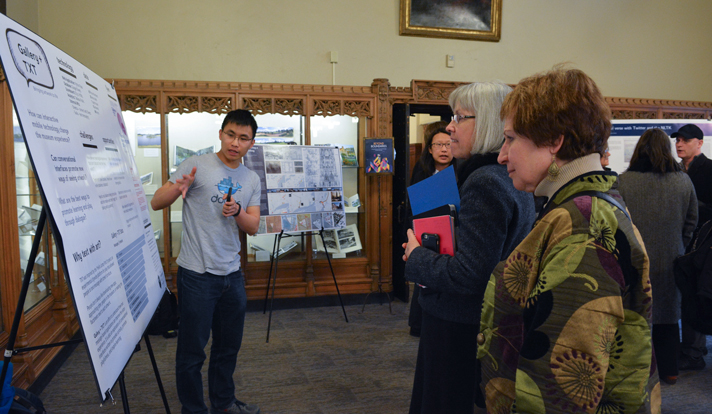 The event ended with a poster session featuring projects by students. (Photo by Michael Marsland)