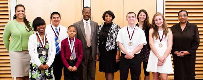 Alumnus Ben Carson Honors Young Scholars Shares Wisdom With