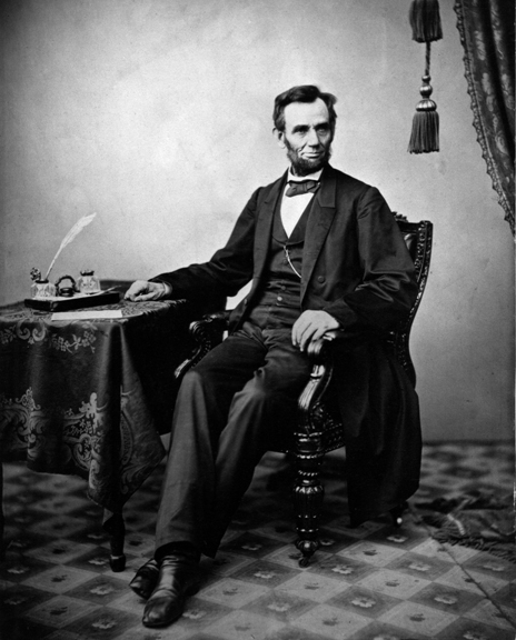 An imperial albumen print of Alexander Gardner's 1863 portrait of Lincoln provides a sense of the president's lanky features. (Beinecke Rare Book and Manuscript Library, Meserve-Kunhardt Collection)
