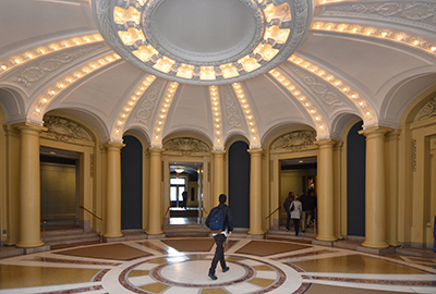 Interior of the Memorial Hall rotunda. (Photo by Michael Marsland, Yale University)