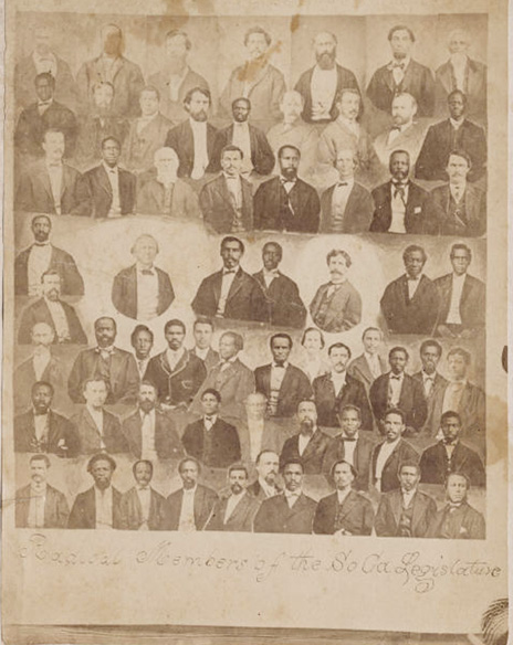 """Radical"" Members of the South Carolina Legislature during Reconstruction from the Simpson, Randolph Linsly Randolph Linsly Simpson African-American collection, Beinecke Rare Book & Manuscript Library"