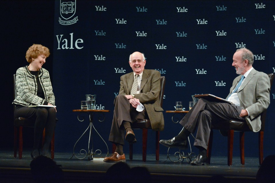 Wendell Berry in conversation with Jeffrey Brenzel and Mary Evelyn Tucker (Photo by Michael Marsland)