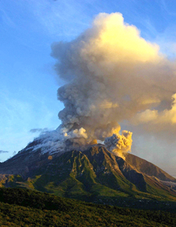 Montserrat Volcano Before And After