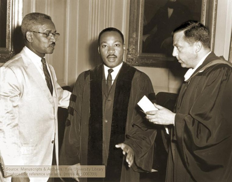 The Rev. Martin Luther King Jr., in New Haven in June, 1964, when he received an honorary Doctor of Laws degree from Yale.