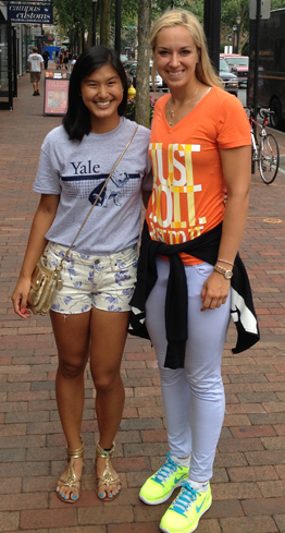 Ree Ree Li '16 and Sabine Lisicki