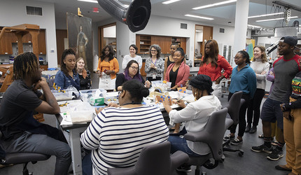 HBCU students in a Yale art conservation class.