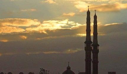 Minarets at dawn in Cairo