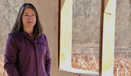Susan Ernst at the Yale Landscape Lab