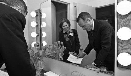 George HW Bush and Linda Lorimer.