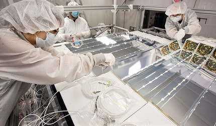 Assembly of the PROSPECT neutrino detector.