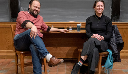 Ross Douthat and Emily Bazelon '93, LAW '00