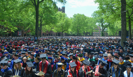 The crowd at Yale Commencement 2019