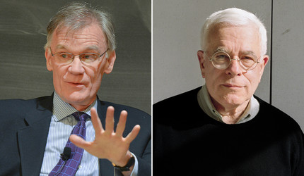 David Blight (left) and Peter Eisenman