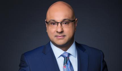 A portrait photo of MSNBC anchor Ali Velshi.