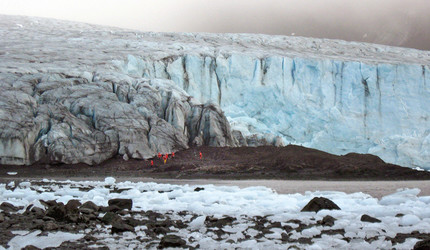 A view of a glacier on Livingston Island.