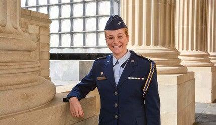 Amanda Lloyd in her cadet's uniform.