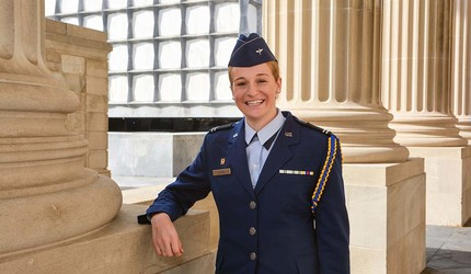 Amanda Lloyd in her cadet's uniform.