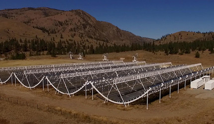 Canadian Hydrogen Intensity Mapping Experiment telescope in British Columbia.