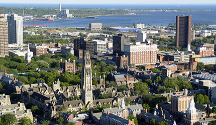 An aerial view of New Haven.
