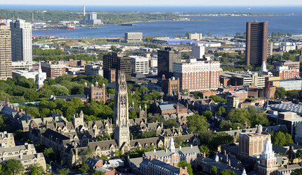 Aerial view of the City of New Haven