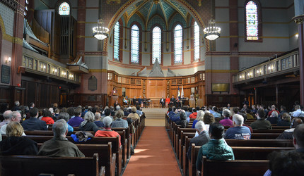 Yale's veteran community was honored during a ceremony at Battell Chapel on Nov. 11.