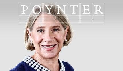 Anita Dunn with Poynter logo.