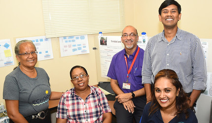 An Eastern Caribbean Health Outcomes Research Network Study team in Trinidad and Tobago.