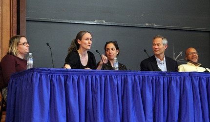 Photo of five faculty panelists