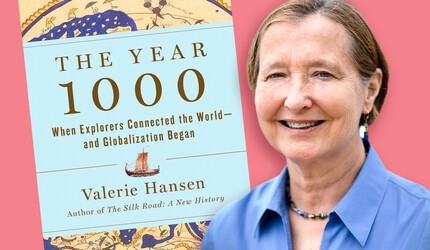 Valerie Hansen with The Year 1000 book jacket
