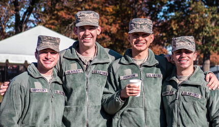 Four ROTC Air Force students.
