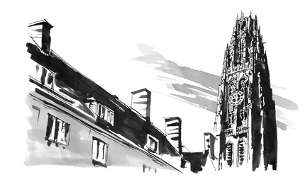 Sketch of Harkness Tower