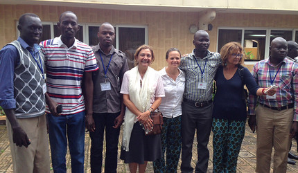 Yale professor and sleeping sickness researcher Serap Askoy and her team in Uganda.