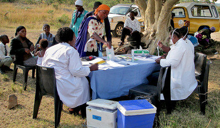 South African nurses performing community-based screening for tuberculosis and HIV in KwaZulu Natal, South Africa.