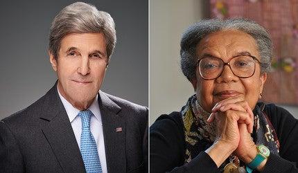 John Kerry and Marian Wright Edelman