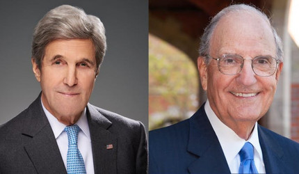 John Kerry and George J. Mitchell