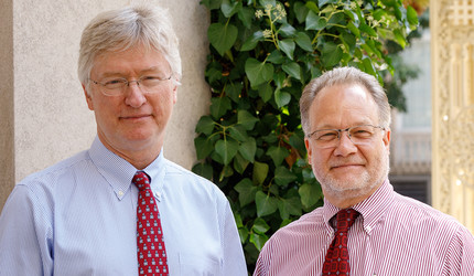 Photo of Dr. Patrick O'Connor and Dr. David Fiellin.