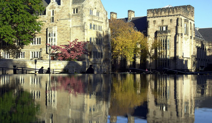 A photo of the Yale campus.