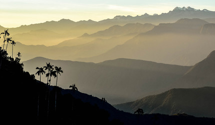 The Sierra Nevada de Santa Marta mountain range in Colombia