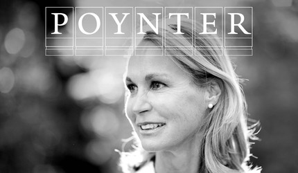 Saskia Keeley with Poynter logo