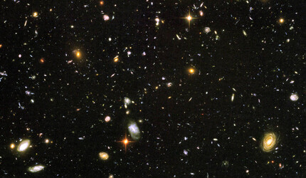 This Hubble Ultra Deep Field image reveals a random sample of nearly 10,000 galaxies.