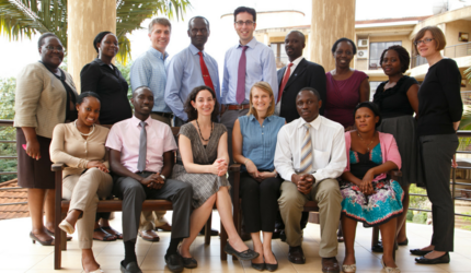 Members of the Uganda Initiative for Integrated Management of Non-Communicable Diseases posing.