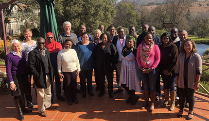 The inaugural cohort of Clayton-Dedoner Fellows at the recent launch with Aurum Institute and Wits University in South Africa.