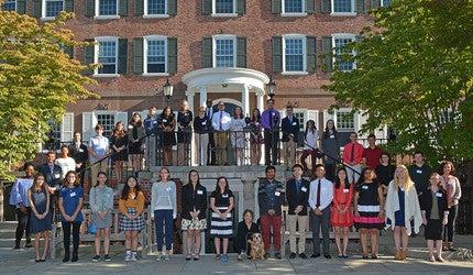Group photo of the Yale Book Award winners.