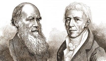 Charles Darwin and Jean-Baptiste Lamarck